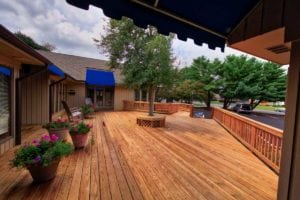 Custom, ADA-Compliant Deck with Ramp for Business in Charlottesville