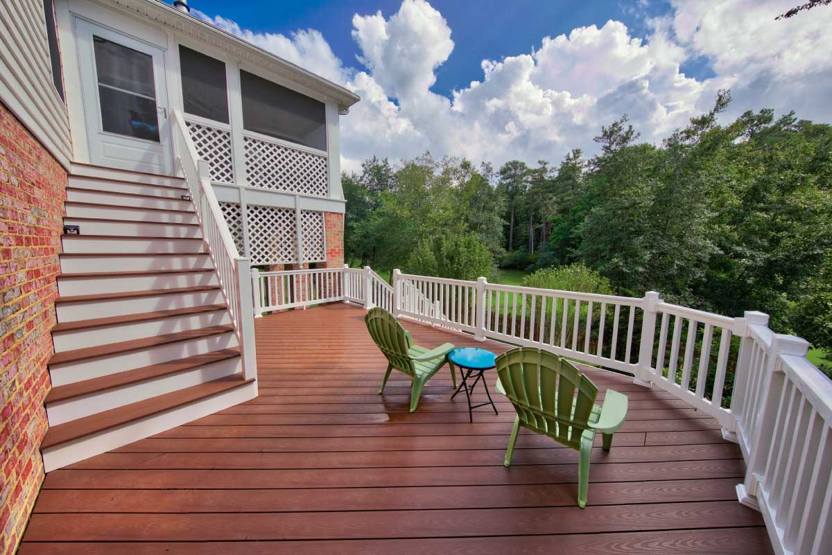 Custom, Wooden Deck with a Beautiful View in Charlottesville, VA