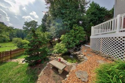 Beautiful Custom Deck with Pond and Garden in Hampton Roads, VA