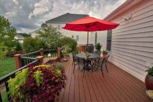 Wooden Deck with Outdoor Furniture in Charlottesville, VA