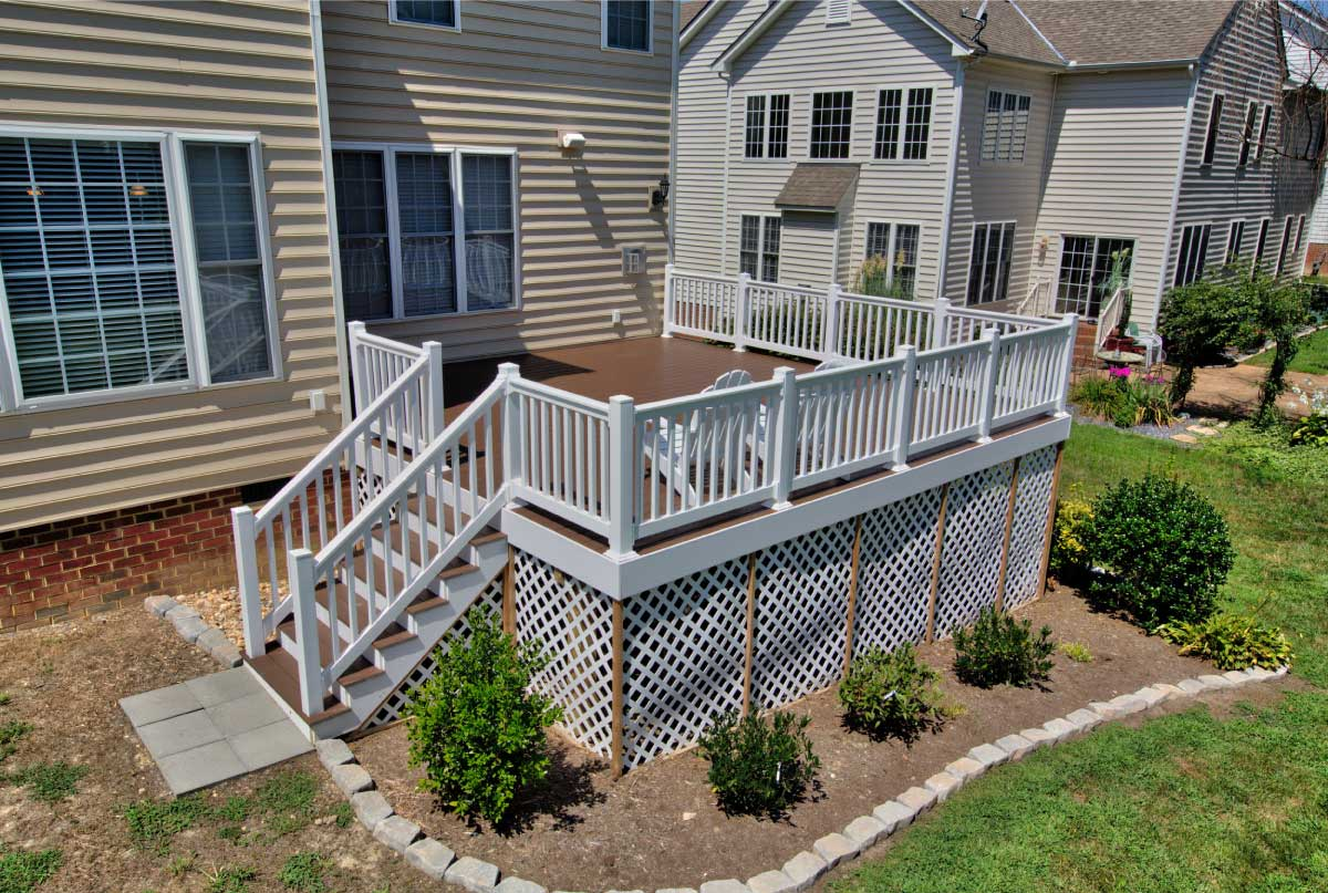Custom, Wooden Deck Design and Construction by Deck Creations in Williamsburg, VA