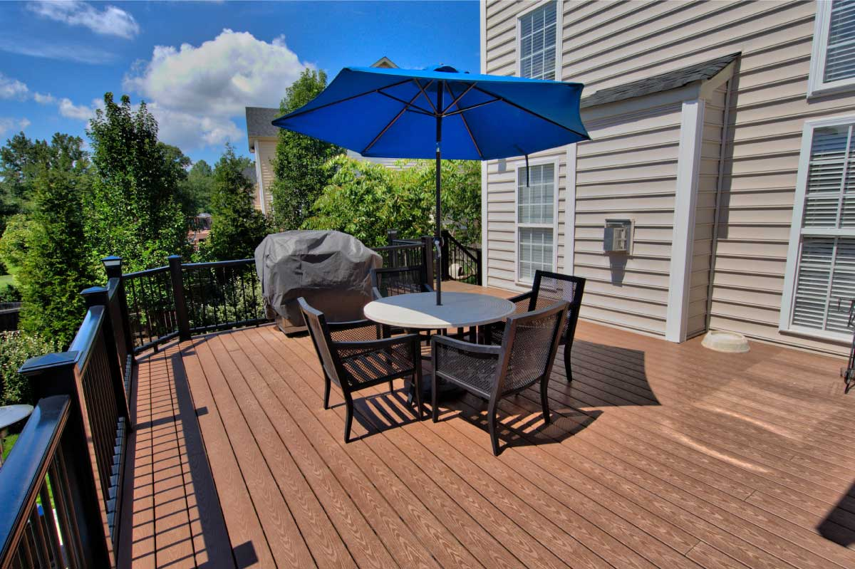 Large Wooden Deck by Deck Creations in Charlottesville, VA