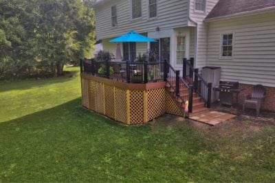 Custom Deck (Right Angle) by Deck Creations in Richmond VA