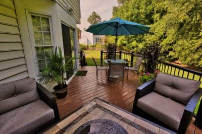 Stunning Backyard Deck with Outdoor Furniture in Hampton Roads, VA