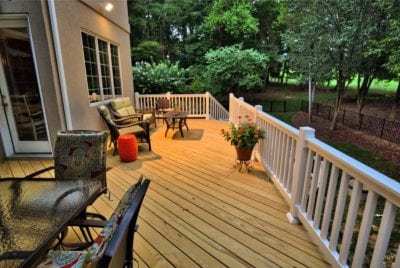 Wooden Deck with Outdoor Furniture in Williamsburg, VA