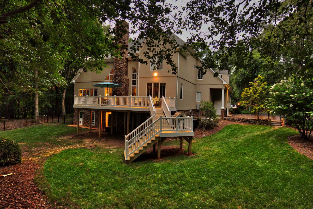 Light Colored Deck with Staircase in Charlottesville, VA