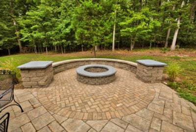 Beautiful Stone Outdoor Fire Pit Design in Charlottesville VA