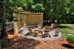 Outdoor, Stone Fire Pit by Deck Creations in Richmond, Williamsburg, Charlottesville and Hampton Roads VA