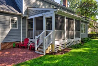 Custom Screened Porch and Brick Patio in Richmond, Williamsburg, Charlottesville, Hampton Roads VA