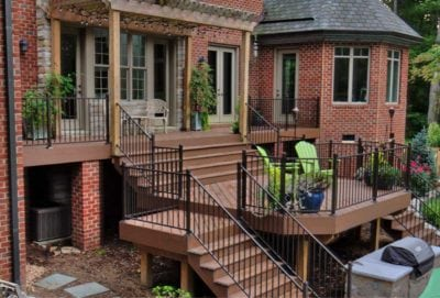 Beautiful Deck with Pergola and Outdoor Furniture in Richmond, Williamsburg, Charlottesville, Hampton Roads VA