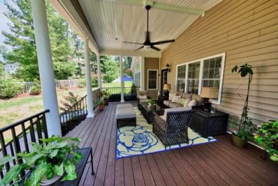 Large Deck Design with Outdoor Furniture by Deck Creations in Richmond, Williamsburg, Charlottesville, Hampton Roads VA