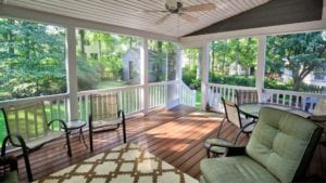 Beautiful, Custom Outdoor Deck with Ceiling Fan in Richmond, Williamsburg, Charlottesville, Hampton Roads VA