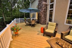 Beautiful Light-Wood Deck in Central VA by Deck Creations