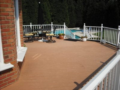Our Work | Custom Deck Design with Pool | Deck Creations Virginia Portfolio