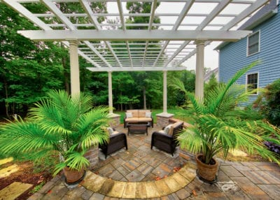 Our Work | Custom Pergola and Hardscape Design | Deck Creations Virginia Portfolio
