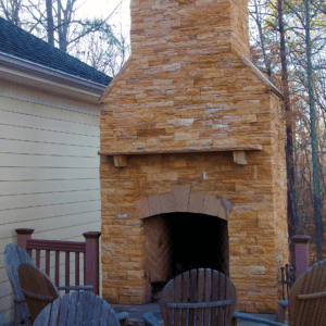 Charlotte Outdoor Fireplace Designer and Builder | Deck Creations