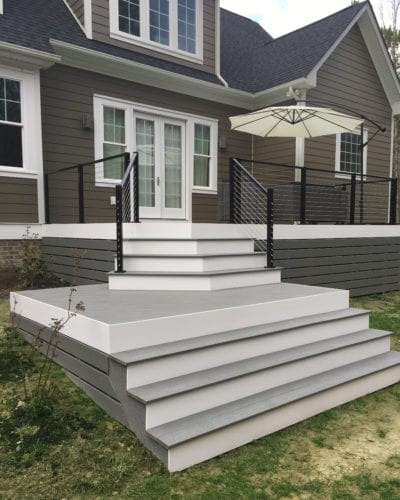 Our Work | Modern Deck Stairs Design | Deck Creations Portfolio