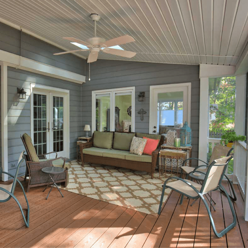 Furnished Covered Deck in Richmond, Virginia | Deck Creations