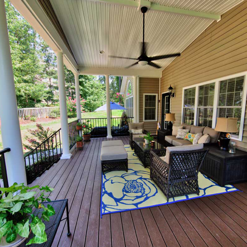 Finished Covered Porch in Richmond, Virginia | Deck Creations