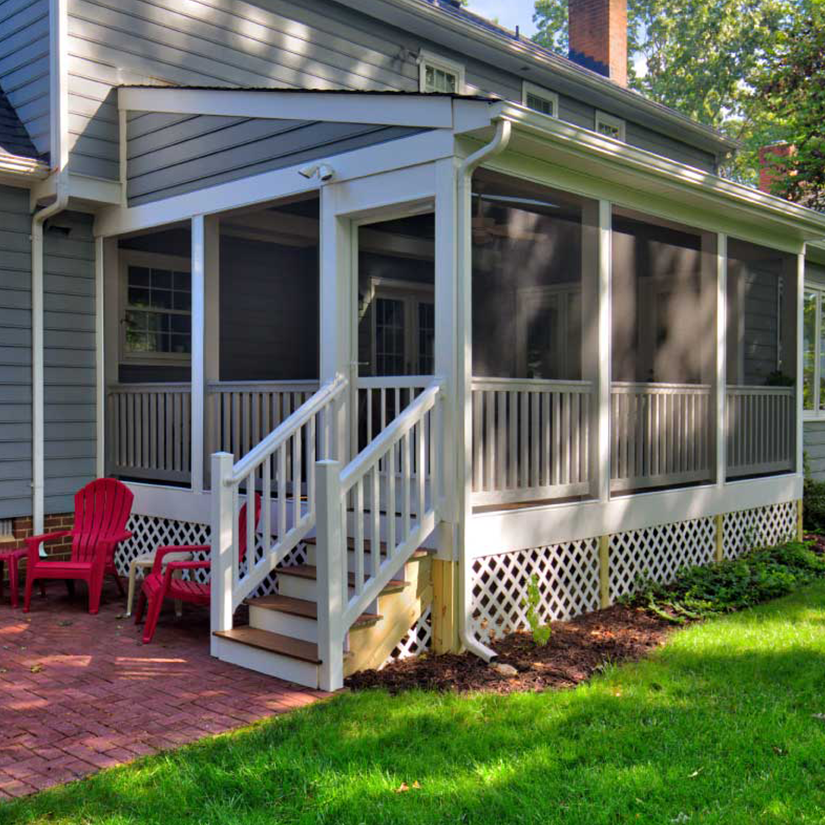Finished Screened Porch in Richmond, Virginia | Deck Creations