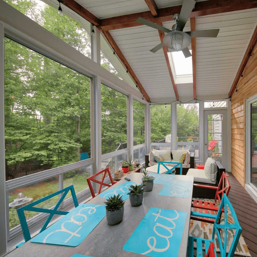 Complete and Furnished Sunroom in Richmond, VA | Deck Creations