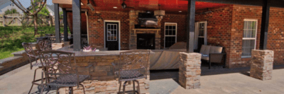 Stone Outdoor Patio and Kitchen | Planning and Building Your New Outdoor Kitchen | Deck Creations