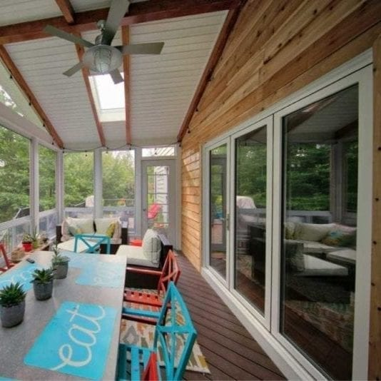 Wood Siding Inside Deck Creations Sunroom | Charlottesville, VA