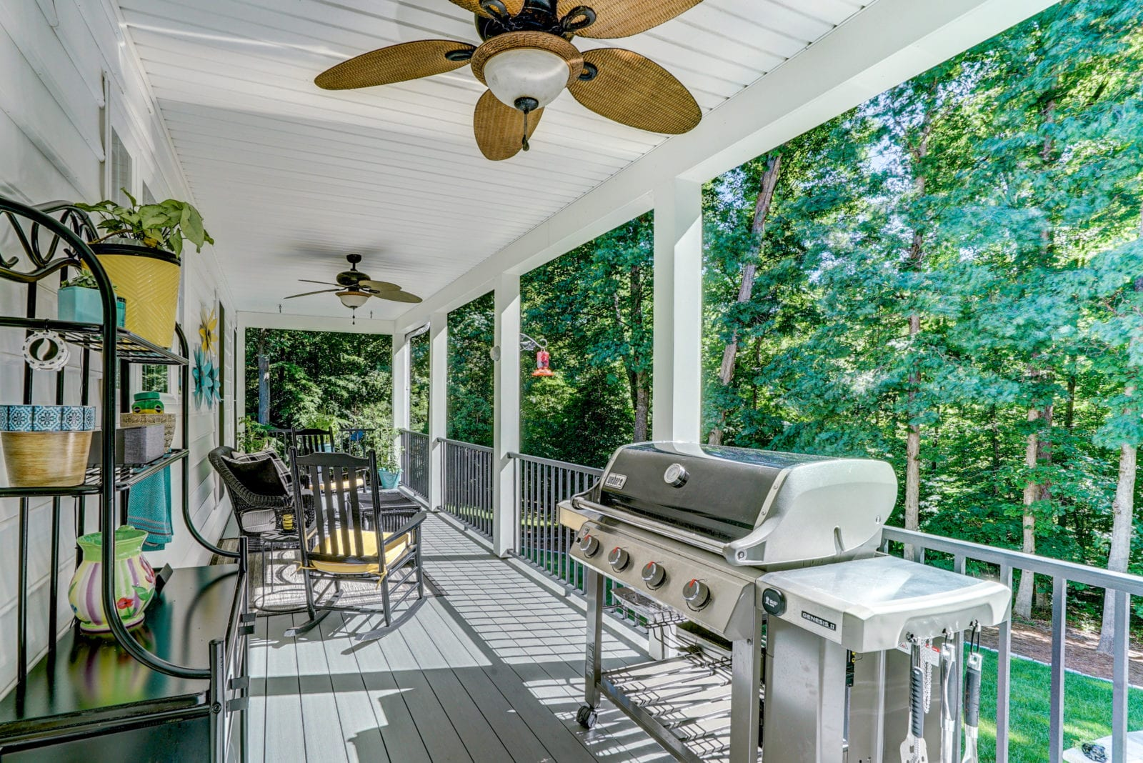 Deck with an Outdoor Fan and Grill in Virginia