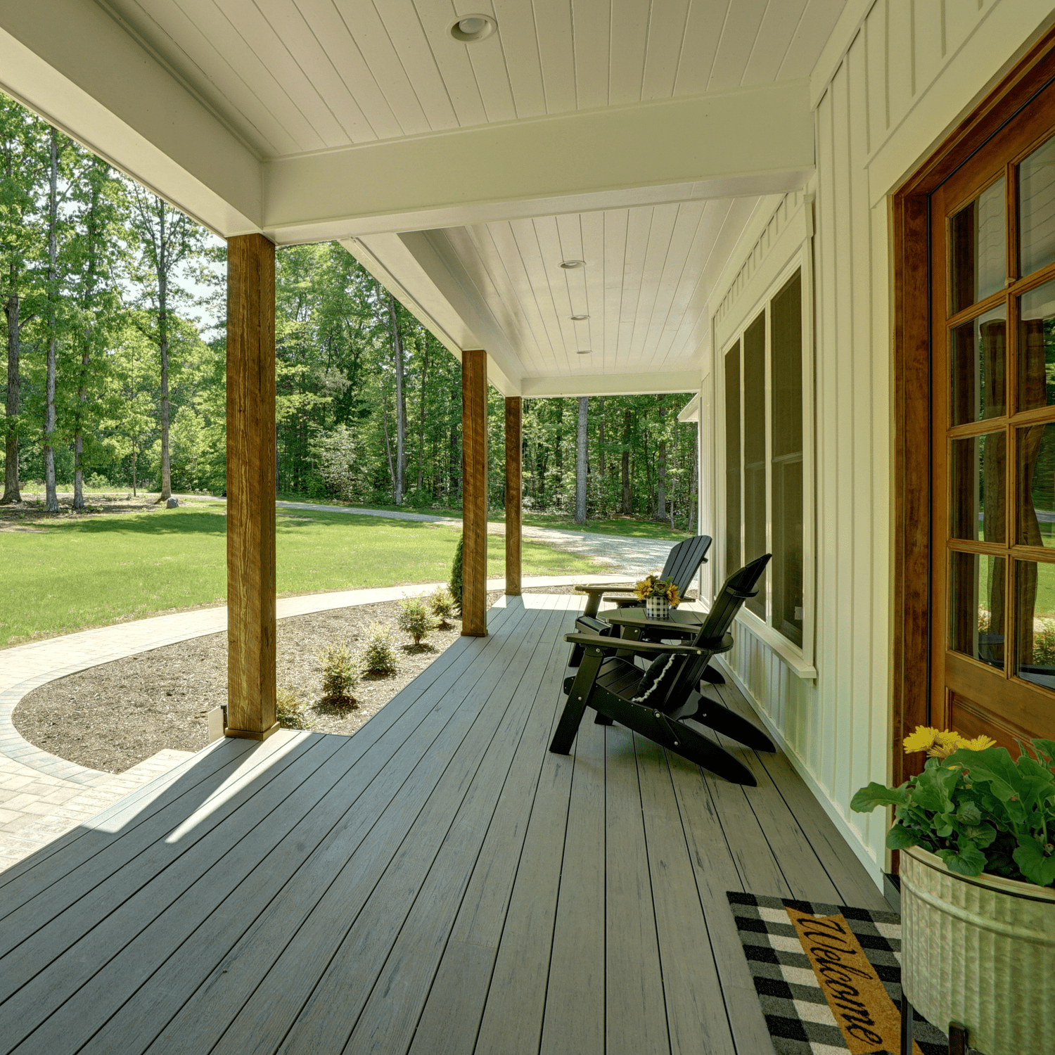 Front Porch with a Long Entry Walkway in Virginia Beach VA