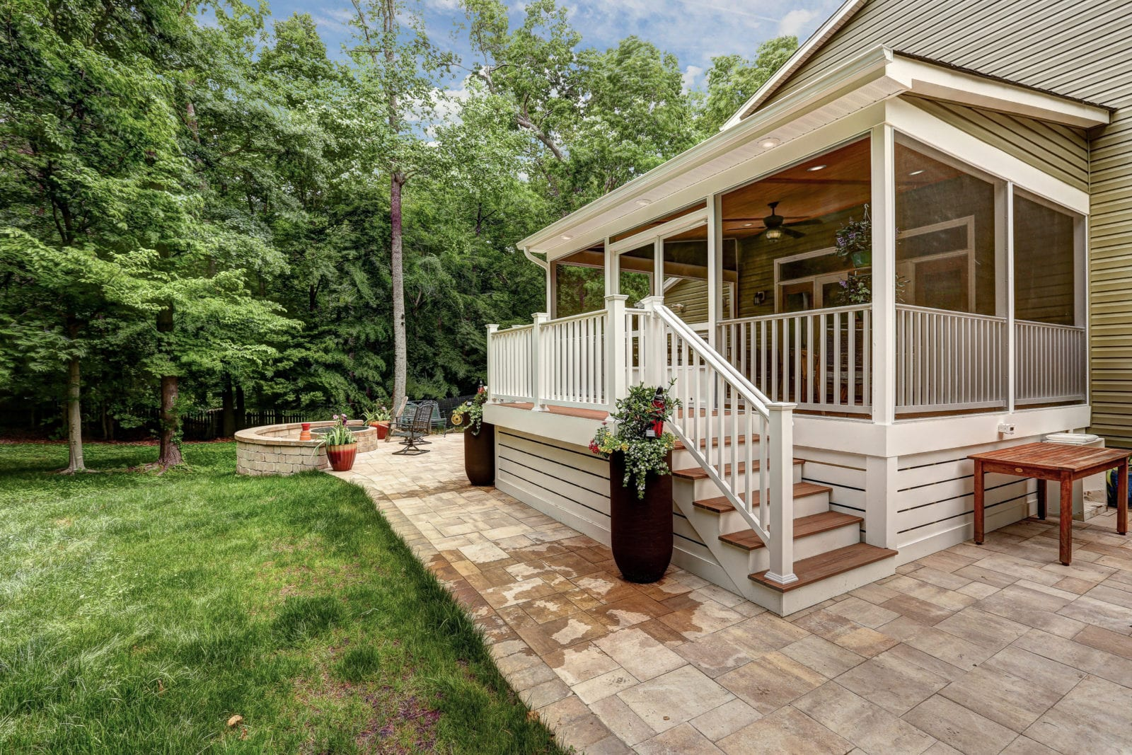 Screened In Porch And Patio In Virginia Deck Creations