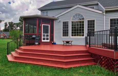 Gray Vinyl Siding in Charlottesville and Richmond VA by Deck Creations